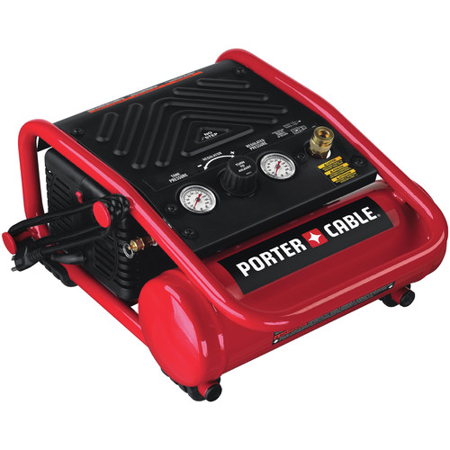 Porter-Cable C1010R | 1 Gallon 135 PSI Oil-Free Quiet Trim Compressor | CPO Outlets