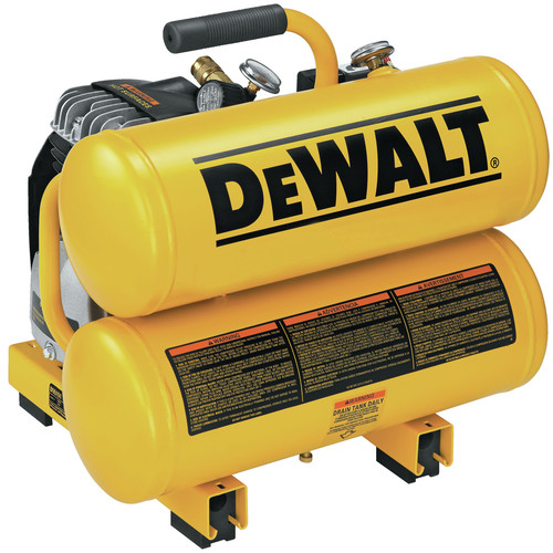 Dewalt D55151R | 1.1 HP 4 Gallon Oil-Lube Hand Carry Air Compressor | CPO Outlets