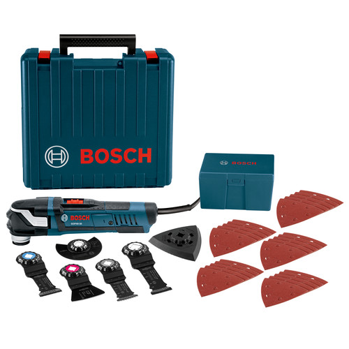 Bosch GOP40-30C 120V StarlockPlus Oscillating Multi-Tool Kit with Snap-In Blade Attachment & 5 Blades