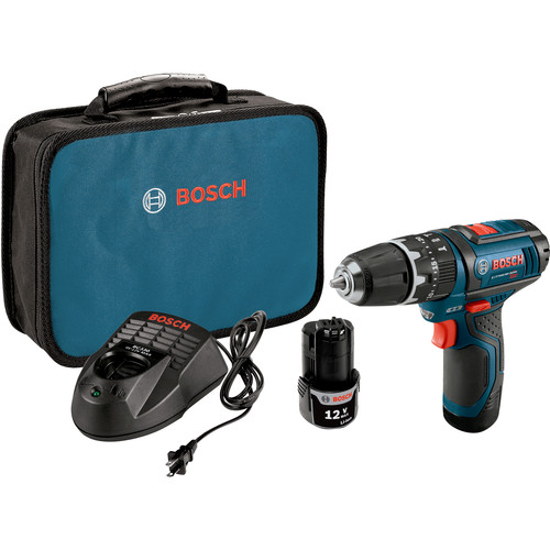 Bosch PS130-2A 12V Max Cordless Lithium-Ion 3/8 in. Ultra Compact Hammer Drill Kit
