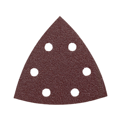 Bosch SDTR080 80-Grit Red Detail Triangular Hook and Loop Sanding Sheets (5-Pack)