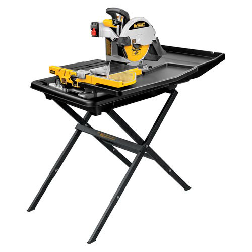 Picture of Dewalt D24000S 10 in Wet Tile Saw with Stand