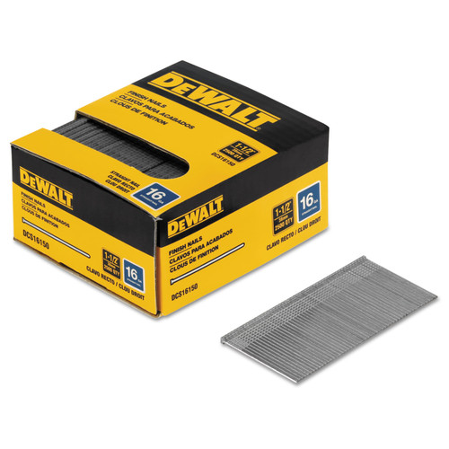 Picture of Dewalt DCS16150 1-12 in 16-Gauge Straight Finish Nails 2500-Pack