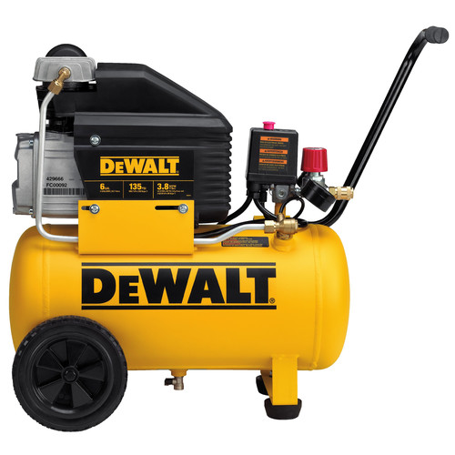 Dewalt 6 Gallon Wheeled Horizontal Air Compressor D55166R