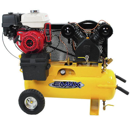 EMAX Industrial Plus 8 HP 19 CFM 17 Gal. Truck Mount Portable Honda Gasoline Air Compressor EGES0817WL