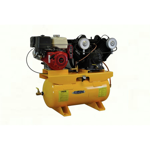 EMAX Industrial Plus 13 HP V4 31 CFM 30 Gal.Truck Mount Stationary Honda Gasoline Air Compressor EGES1330V4