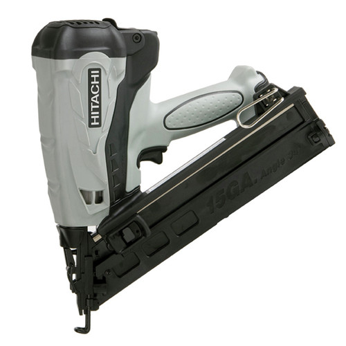 Hitachi 15-Gauge 2-1/2 in. Cordless HXP Lithium-Ion Angle Finish Nailer NT65GAP9
