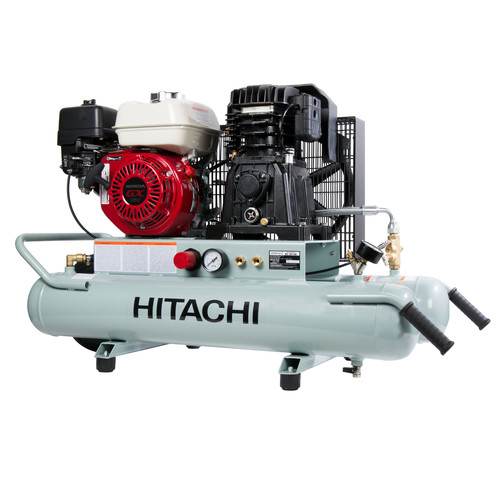 Hitachi Portable 8 Gallon Gas Powered Wheelbarrow Air Compressor EC2610E