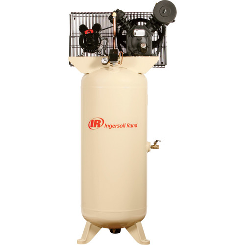 Ingersoll Rand 5HP 230/1 2340L5-V Two Stage Cast Iron Air Compressor 2340L5-V230