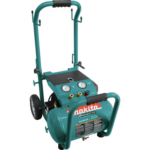 Makita 3.0 HP 5.2 Gallon Oil-Lube Wheeled Dolly-Style Air Compressor MAC5200