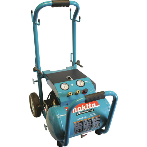 Makita 3.0 HP 5.2 Gallon Oil-Lube Wheeled Dolly-Style Air Compressor MAC5200-R