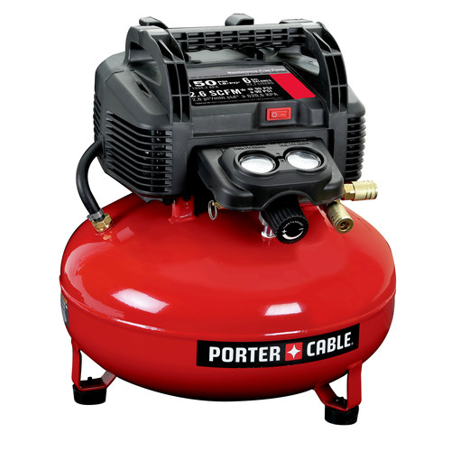 Porter-Cable 0.8 HP 6 Gallon Oil-Free Pancake Air Compressor C2002