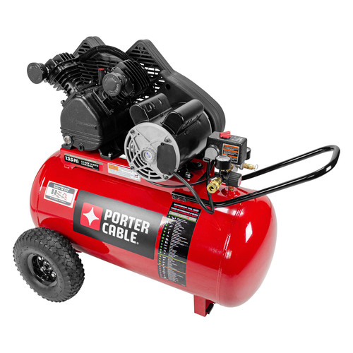 Porter-Cable 1.6 HP Single Stage 20 Gallon Oil-Lube Horizontal Air Compressor PXCMPC1682066