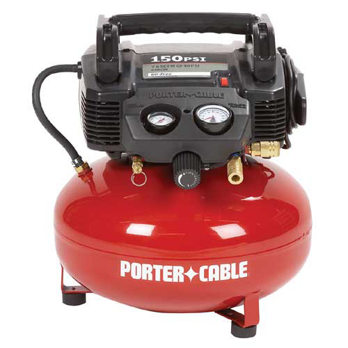 Porter-Cable 0.8 HP 6 Gallon Oil-Free Pancake Air Compressor C2002R