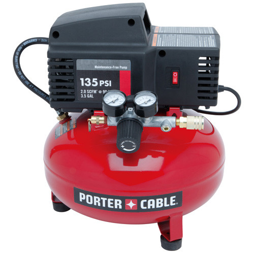 Porter-Cable 135 PSI 3.5 Gallon Oil-Free Pancake Compressor PCFP02003R