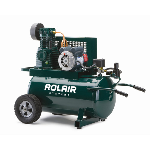 Rolair 5520K17A-0001 20 Gallon 1.5 HP Electric ASME Portable Belt Drive Air Compressor