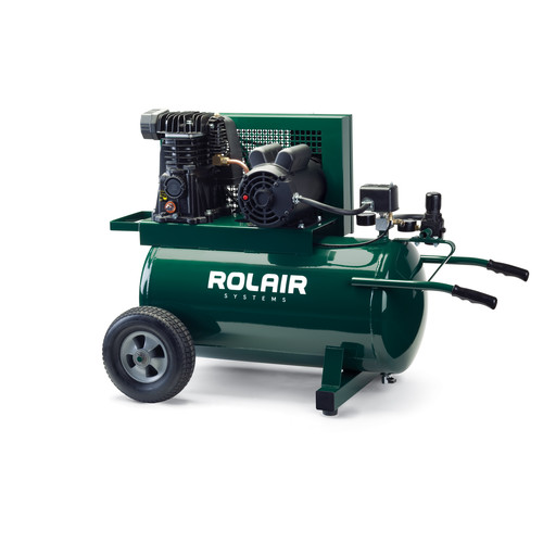 Rolair 5520MK103A-0001 20 Gallon 1.5 HP Electric ASME Portable Belt Drive Air Compressor