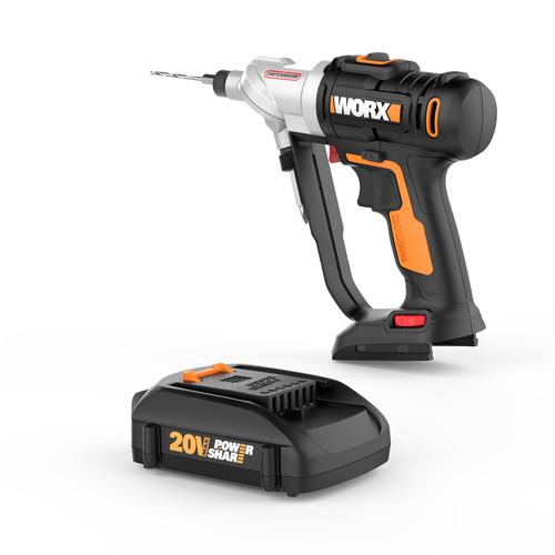 20V 1.5 Ah Cordless Lithium-Ion Switchdriver with Dual Chuck Technology - WORX WX176L